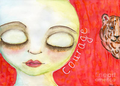 Painting - Courage by AnaLisa Rutstein