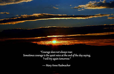 Photograph - Courage by Cathy Shiflett
