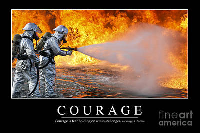 Photograph - Courage Inspirational Quote by Stocktrek Images