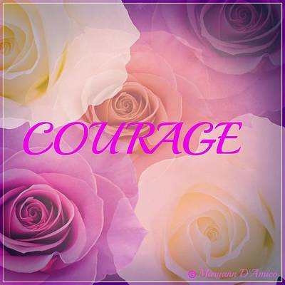 Painting - Courage by Maryann  DAmico