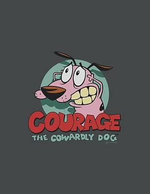 Horror Digital Art - Courage The Cowardly Dog - Courage by Brand A