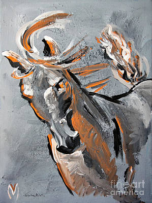 Courage Painting - Courage - Horse Art By Valentina Miletic by Valentina Miletic
