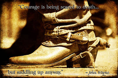 Photograph - Courage Via John Wayne by Lincoln Rogers
