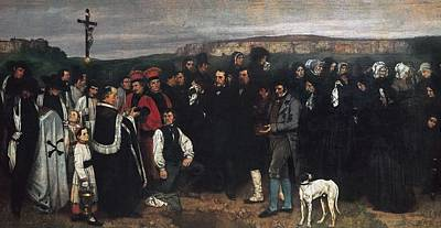 Realistic Photograph - Courbet, Gustave 1819-1877. Burial by Everett