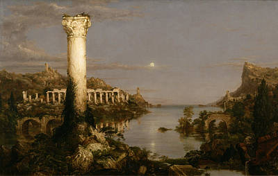 Painting - Course Of Empire Desolation by Thomas Cole