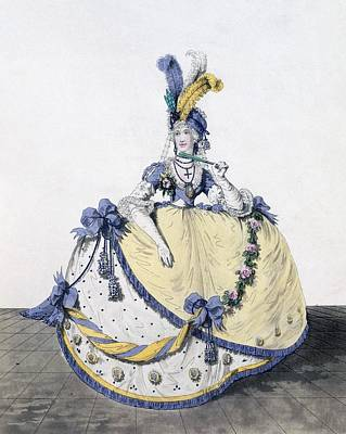 Aristocrat Drawing - Court Dress, Fig. 106 From The Gallery by Nicolaus von Heideloff