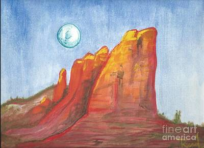 Painting - Court House Butte  by Reed Novotny