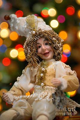 Christmas Lights Photograph - Court Jester With Christmas Lights by Amy Cicconi