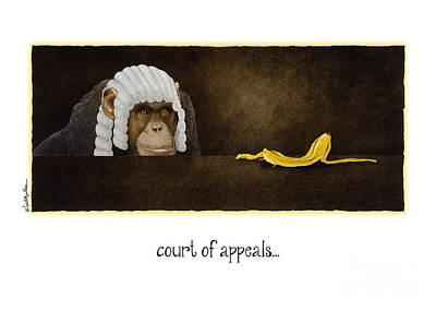 Monkey Wall Art - Painting - Court Of Appeals... by Will Bullas