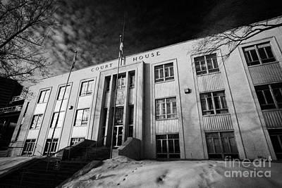 court of queens bench court house downtown Saskatoon Saskatchewan Canada Print by Joe Fox