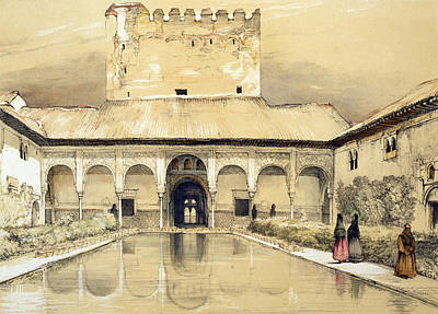 North Drawing - Court Of The Myrtles And The Tower by John Frederick Lewis