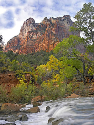 Photograph - Court Of The Patriarchs Zion Np Utah by Tim Fitzharris