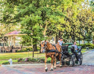 Digital Art - Court Square Memphis by Liz Leyden