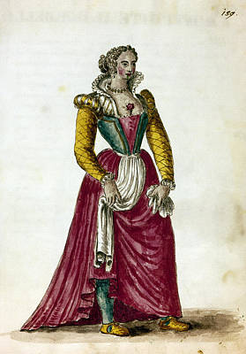 Courtesan Painting - Courtesan, 18th Century by Granger