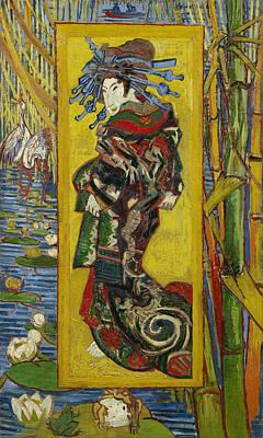 Courtesans Painting - Courtesan After Eisen by Vincent van Gogh