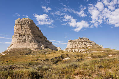 Photograph - Courthouse And Jail Rocks - Bridgeport Nebraska by Brian Harig