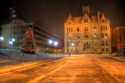 Parkersburg Wv Photograph - Courthouse At Night by Jonny D