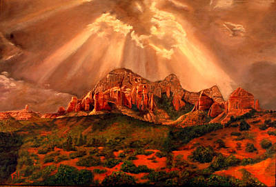 Art Print featuring the painting Courthouse Butte by Rick Fitzsimons