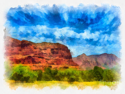 Tourist Attraction Digital Art - Courthouse Butte Sedona Arizona by Amy Cicconi