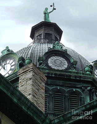 Photograph - Courthouse Dome In Binghamton Ny by Sally Simon