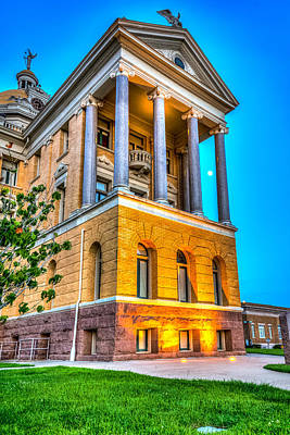Courthouse Evening Light Art Print