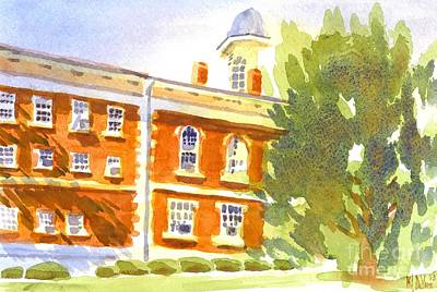 Courthouse In August Sun Original by Kip DeVore