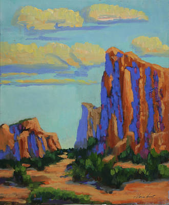 Courthouse Rock Painting - Courthouse Rock In Sedona by Maria Hunt