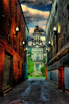 Alley Photograph - Courthouse by Tom Mc Nemar