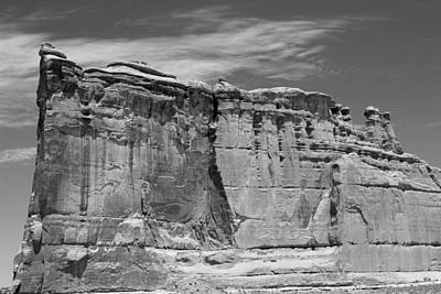 Photograph - Courthouse Towers Arches National Park Bw by Mary Bedy