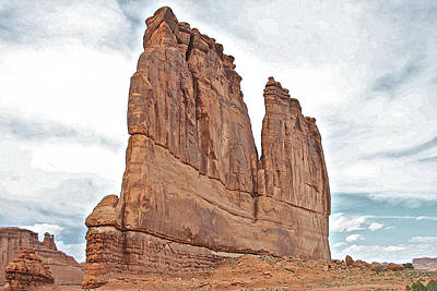Photograph - Courthouse Towers Arches National Park by SC Heffner