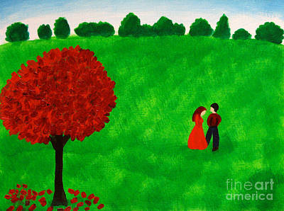 Painting - Courting Couple by Anita Lewis