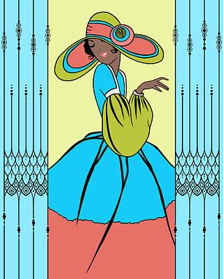 Digital Art - Courtney Vintage Spring by Nancy Lorene