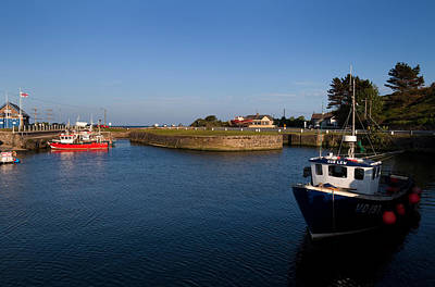 Fishing Harbour Photograph - Courtown Fishing Harbour, Near Gorey by Panoramic Images