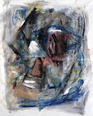 Baselitz Painting - Courtship by Antonio Ortiz