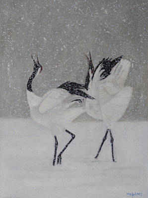 Painting - Courtship Dance by Masami Iida