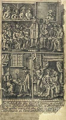 Courtship,17th Century Artwork Art Print