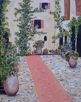 Painting - Courtyard Garden by Judith Rhue