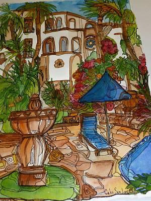 Courtyard In Cobo Art Print by Michelle Gonzalez