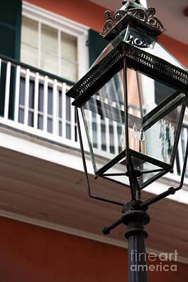 Photograph - Courtyard Lamp by John Rizzuto