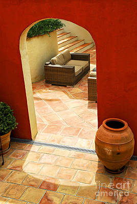 Upscale Photograph - Courtyard Of A Villa by Elena Elisseeva