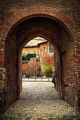Courtyard Of Cathedral Of Ste-cecile In Albi France Art Print