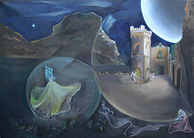 Sicily Painting - Courtyard Of Seven Fairies  by Daniela Giordano