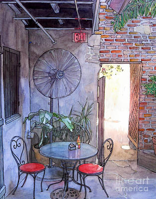 Garden District Painting - Courtyard Of The Napoleon House by John Boles