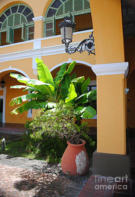 Photograph - Courtyard Old San Juan by George D Gordon III