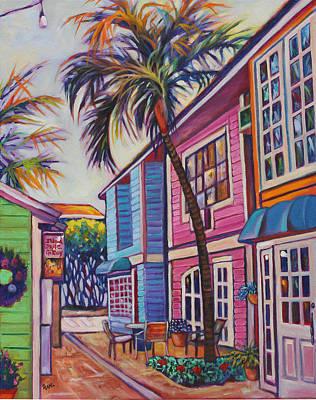 Courtyard Palm Original by Eve  Wheeler