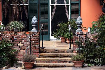Courtyard Patio Art Print by John Rizzuto