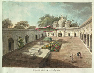 Illustration Technique Photograph - Courtyard To A Muslim Shrine by British Library