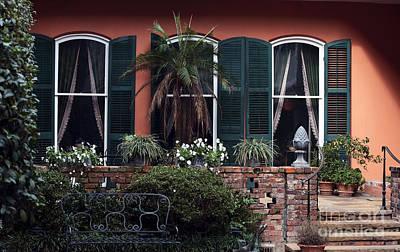 Courtyard Windows Art Print by John Rizzuto