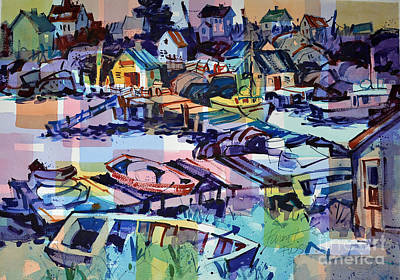 Painting - Peggy's Cove Late Afternoon by Roger Parent