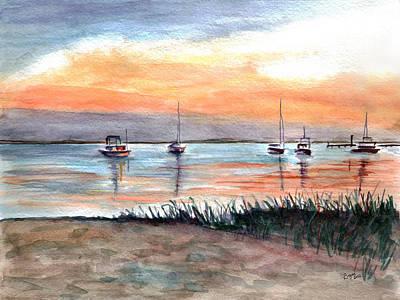 Bayville Painting - Cove Sunrise by Clara Sue Beym